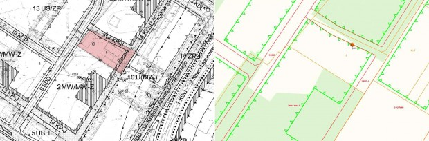 Plan Miejscowy - skan wersji papierowej i wersja cyfrowa